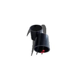 Silicone Exhaust Durite (Black), SXR-1100cc KOMMANDOR