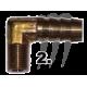Raccord laiton 90° durite 1/8 * 3/8