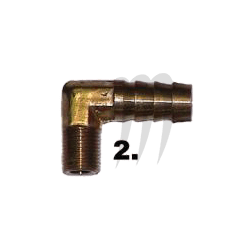 Brass Fitting 90° 1/8 pipe Thread 3/8 Hose