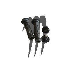 ATI . Poignées Flame (Noir )