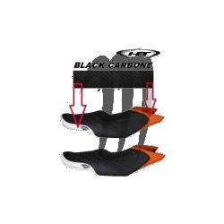HYDRO-TURF. Housse de Selle GTS-130/ GTI-130/ GTR-215 (2011-2013) noir / noir carbone