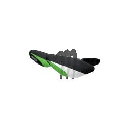 RIVA. Housse de selle ULTRA-250X/ ULTRA-260X noir / vert / blanc