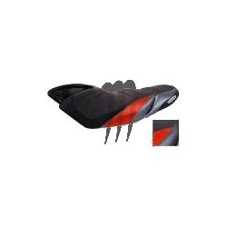 RIVA. Housse de selle Racing FX-SHO noir / rouge / alu