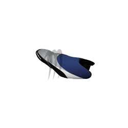 RIVA. Housse de selle Racing FX-140/ FX-160 noir / bleu / alu / blanc