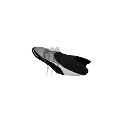 RIVA. Housse de selle Racing FX-140/ FX-160 noir / alu / blanc