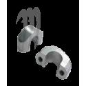 KIT Handle Bar Clamps ( 2 pieces ) sylver .