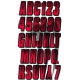 Registration kit,  CARBON  BRIGHT RED  ( 146 pieces )