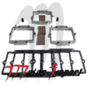 MAD -engineering . Angled Reed Spacers taillé dans la masse 900cc - 1100cc Kommandor ( kit complet)
