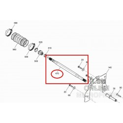 Arbre de transmission d'origine Seadoo pour Spark 2-Up/ 3-Up