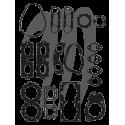 Pochette complète joint moteur 61X Yamaha 701cc