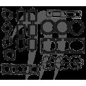 Engine gasket kit, 1200cc,65U