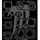 Pochette joint haut moteur Kawasaki 550cc