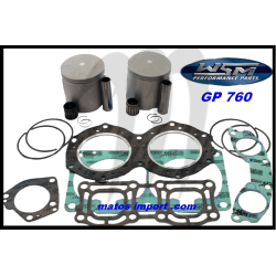Kit pistons platinum Yamaha XL 760 / GP 760 / WAVE RAIDER / WAVE RUNNER (Cote +0.50mm)