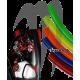 Durite essence 1/4 renforcée transparente ( ORANGE ) 50cm