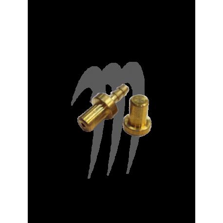 Kit bouchon mâle en laiton, 2 pièces