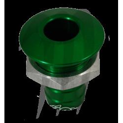 Sortie pompe de cale anodisé (verte) usinée par Blowsion
