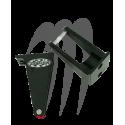 Kit Keepers Male Hood, Aluminium black ( 2 pièces), Super-Jet ( 1990-2012 )