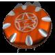 Gas cap Yamaha (orange ).