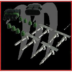 MSD. Kit Connecteur Electrique Male et Femelle (4 fils)