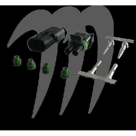 Kit connecteur electrique male et femelle (2 fils)
