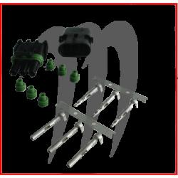 Kit connecteur electrique male et femelle (3 fils)