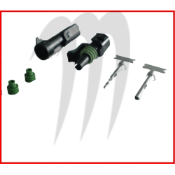 Kit connecteur electrique male et femelle (1fil)