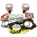 Kit pistons platinum Seadoo GTX DI / LRV DI /RX DI / XP DI (Standard 87.91mm)