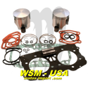 Kit pistons platinum Seadoo GTX / GSX / XP /RX (Standard 87.91mm)