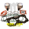 Kit pistons platinum Seadoo GTX / GSX / XP /RX (Cote +1mm)