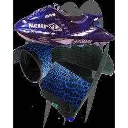 Mat Kit Complete Precut ,GP800R / 1200R /1300R  (2000-2007) ,cut aligator, blue-black