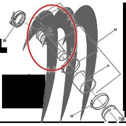 BRP. Tuyau de Collecteur Sea-doo (2008-2016)
