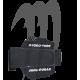 Mat kit Lifter Bumps, Kick tail , SXR-800 (Mat kit for Rail Caps Composite),black-carbon
