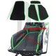 Kit Mat Lifter Bumps + Kick-tail,  SXR-800 ( Replacement  Origin mat black-green )