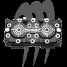 ADA . Culasse Pro Serie RACING 29cc, 701 , Super Jet - Blaster