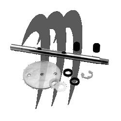 Axe de carburateur MIKUNI 38MM avec papillon accélérateur