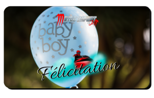 Félicitation naissance garcon